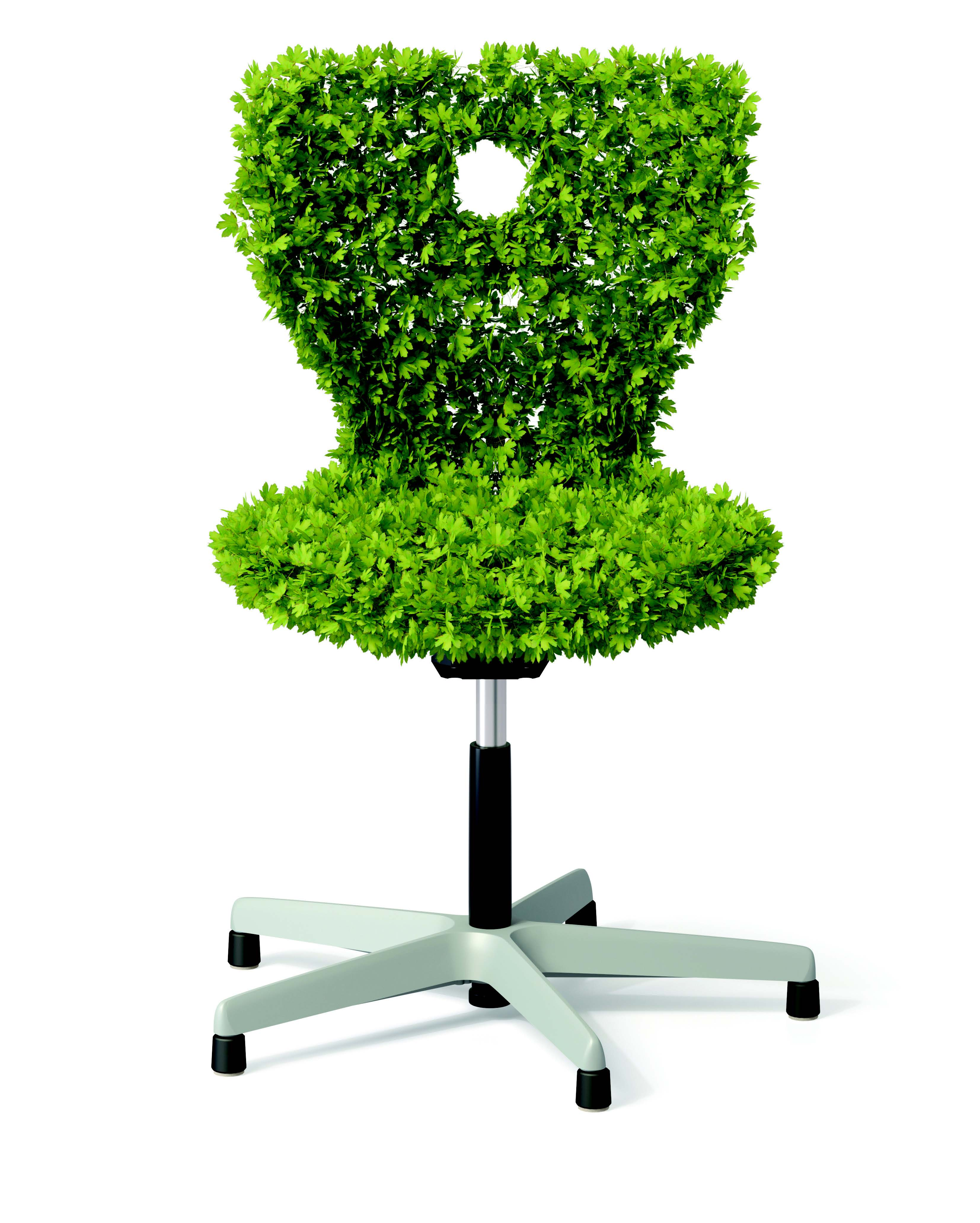 eco-friendly desk chair made out of leaves