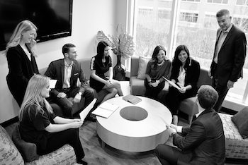 OMNIA Partners team members discussing contracts