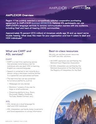 AMPLEXOR CART and ASL Services
