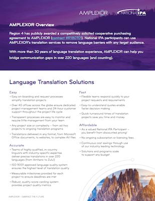 AMPLEXOR Translation Brief