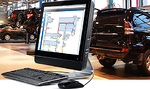 auto repair shop computer showing data