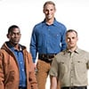 Three Men Wearing Carhartt Rental Workwear