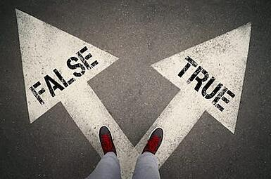 Procurement Professional Determining What's True and What's False