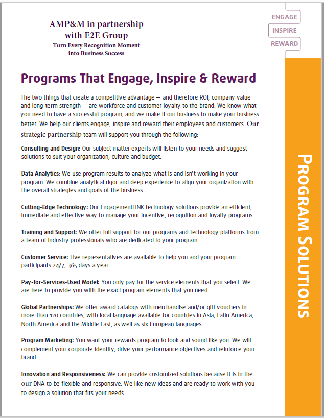 E2E Program Solutions