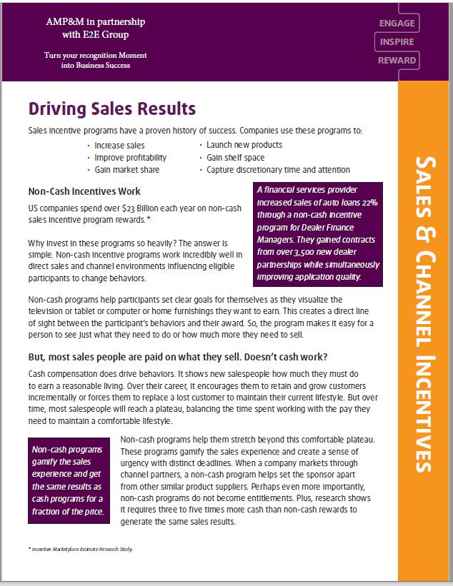 E2E Sales Incentives