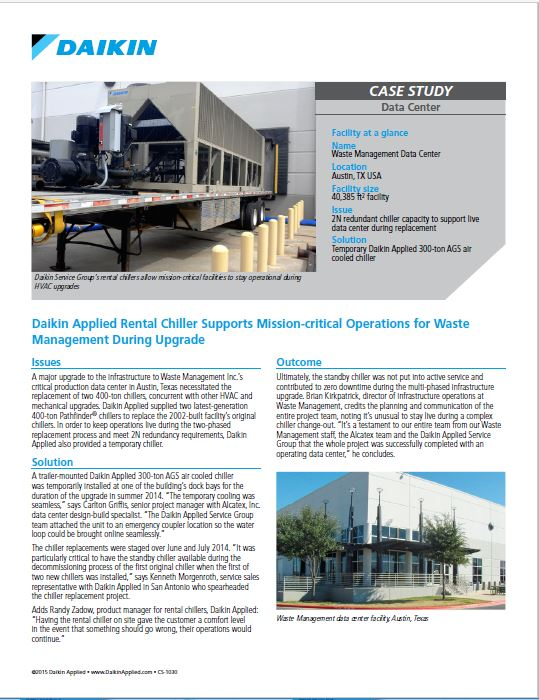 Case Study: Daikin Applied Rental Chiller