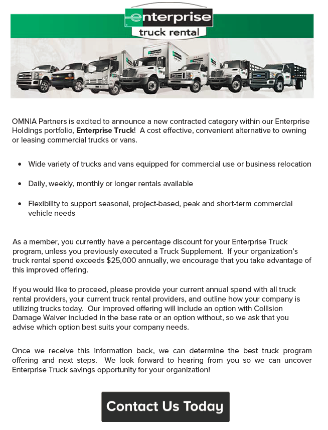 New Contract Category- Enterprise Trucks