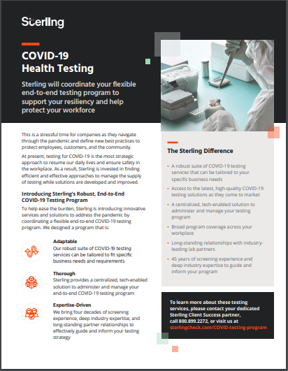 COVID-19 Health Testing Program