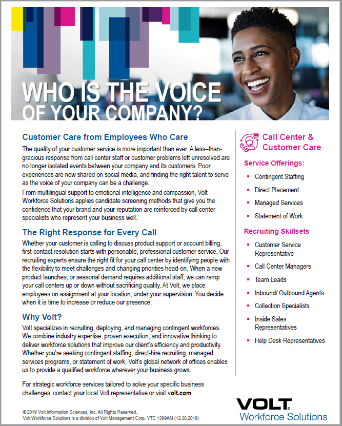 Customer Care & Call Center
