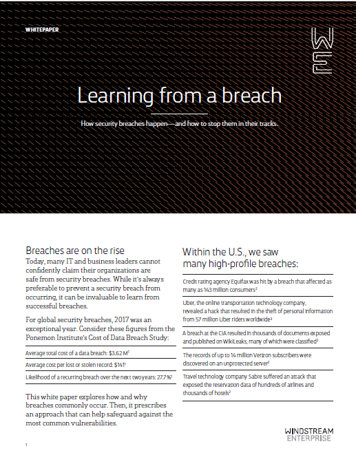 White Paper: Learning from a Data Breach