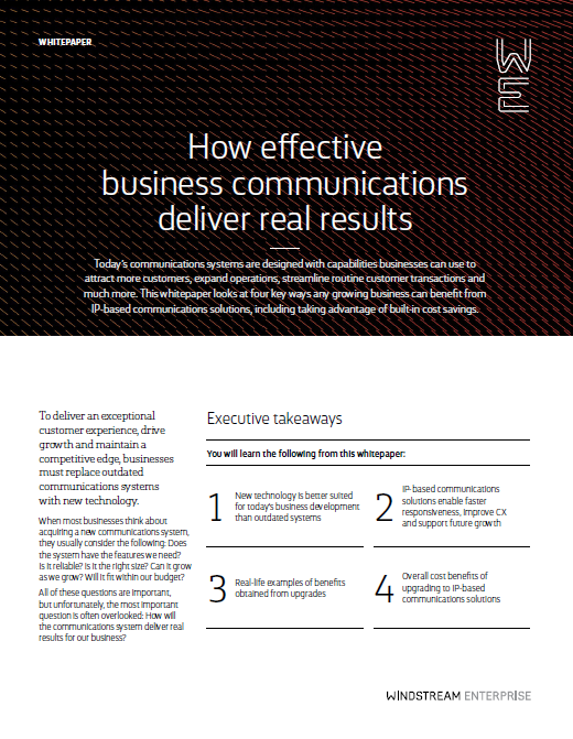 White Paper: How Effective Business Communications Drive Real Results