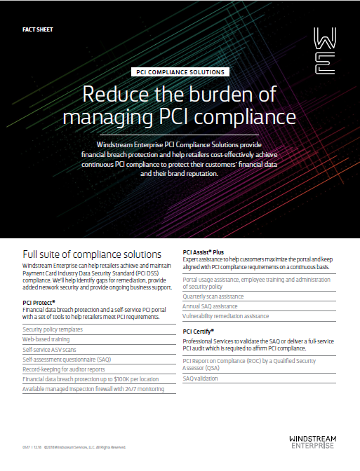 Fact Sheet: PCI Compliance