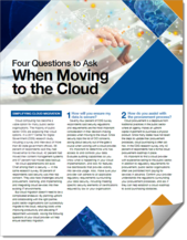 Four Questions to Ask When Moving to the Cloud