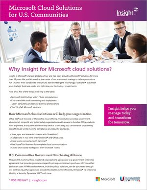 Microsoft cloud solutions image