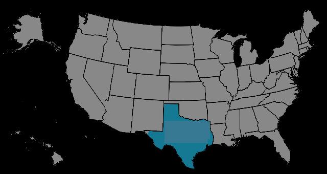 Region Texas-Municipal Map