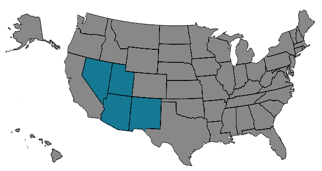 Region Southwest Map