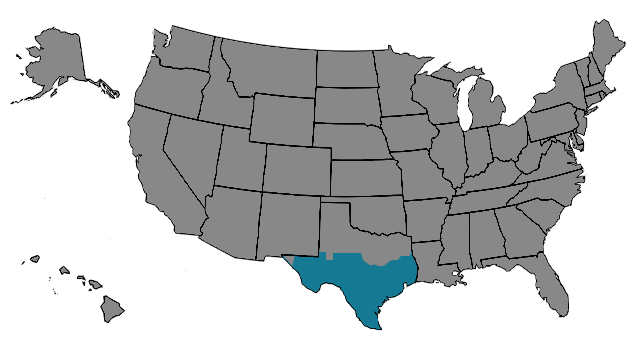 Region South Texas Map