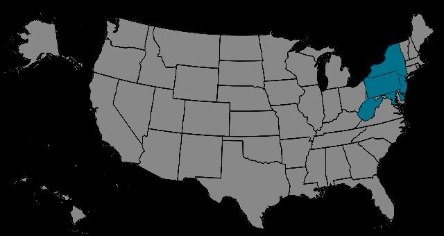 Region Northeast Map