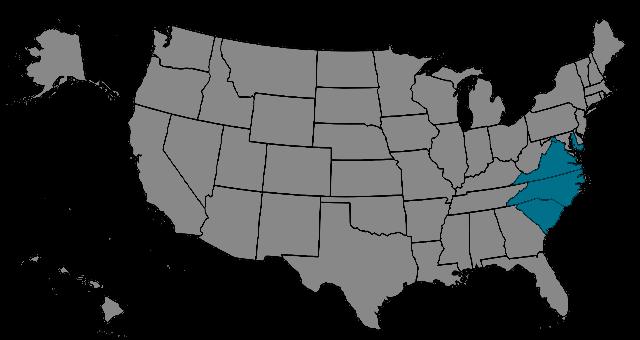 Region Mid-Atlantic Map