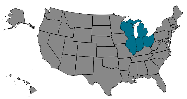 Region Midwest Map