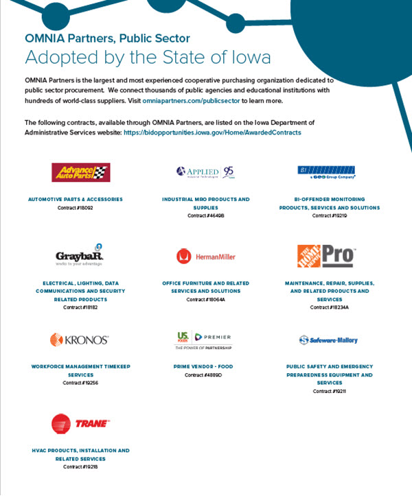 Iowa Adopted<br>Contracts Flyer